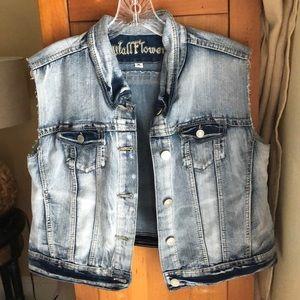 Wallflower Sleeveless Bluejean Jacket